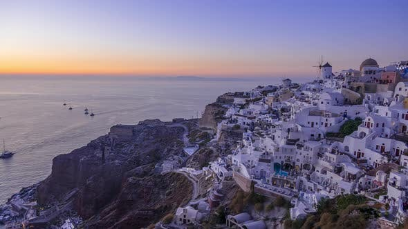 Thumbnail for Sunset Over Thira Island