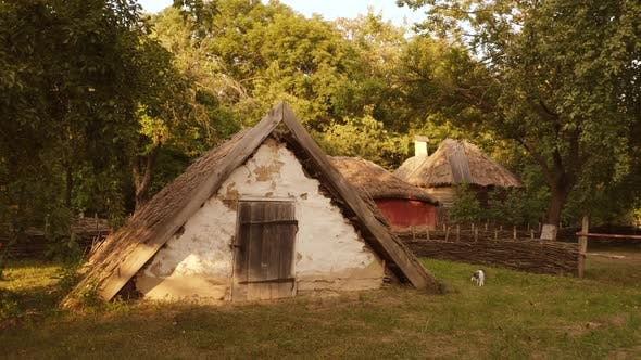 Old Historical Village Shed in a Form of Triangle