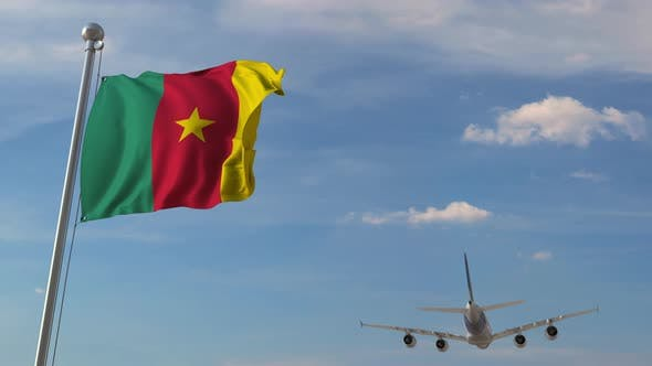 Thumbnail for Airplane Flying Over Flag of Cameroon