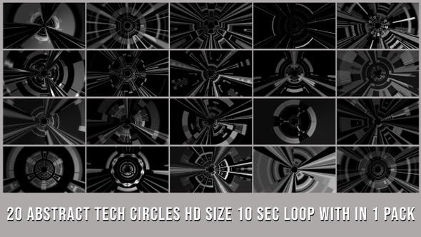 Thumbnail for Abstract Tech Circle Elements Pack V02