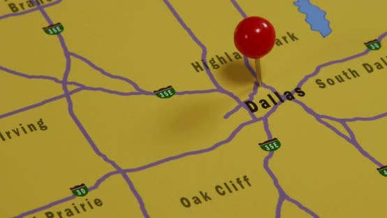 Dallas Pinned On A Map 01b