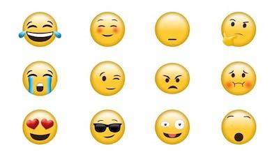 Digital generated video of emoji