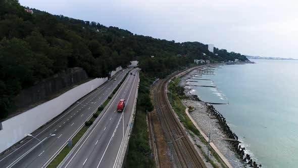 Thumbnail for Road along the sea coast