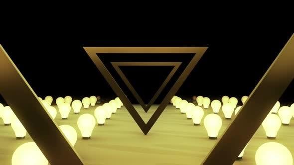 Triangle Light Bulb Bg Hd