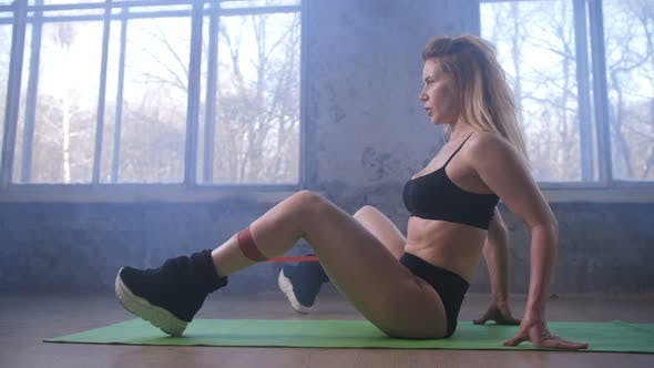 Thumbnail for Woman Developing Inner Thigh Training on Mat