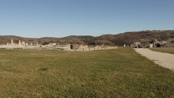 Thumbnail for GAMZIGRAD, SERBIA - DECEMBER 25, 2017 Tilting on Roman complex of palaces and temples Felix Romulian