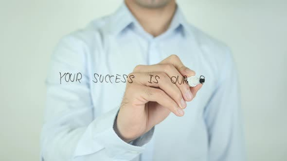 Thumbnail for Your Success Is Our Goal, Writing On Transparent Screen