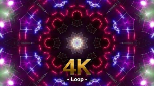 Colorful Light Background Loop 4K 03
