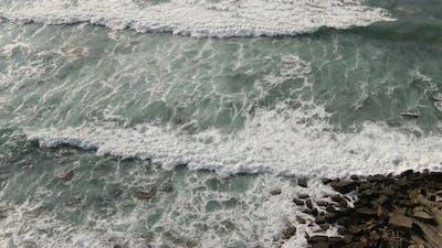 Storm Waves on the Spanish Coast Cantabria, Spain