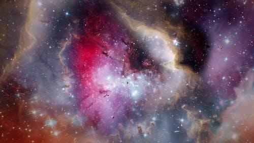 Flying through nebula 4K