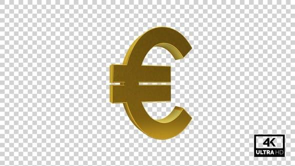 Thumbnail for Gold Euro Symbol Seamless Rotate