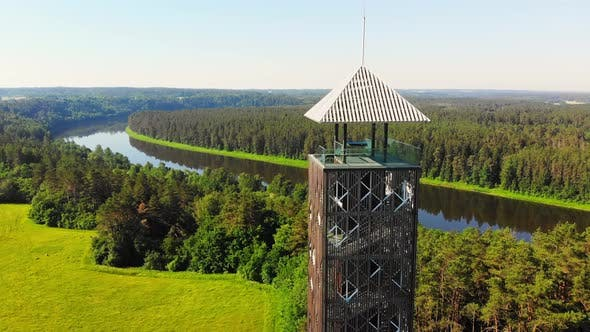 Unique Architecture Observation Tower In Nature