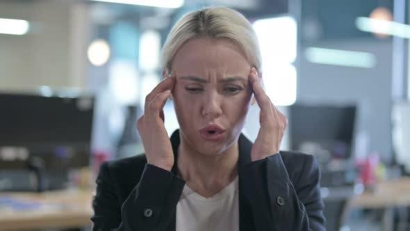 Thumbnail for Portrait of Tired Businesswoman Having Headache