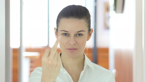 Thumbnail for Woman Showing Middle Finger, Anger Outburst