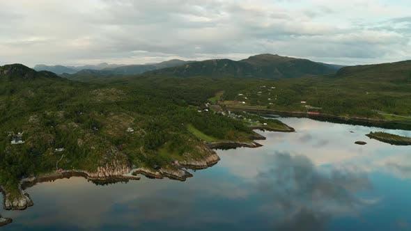 Thumbnail for Beautiful Norwegian Fjord at Sunset