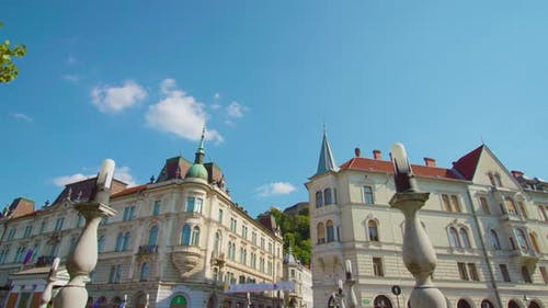 Historical Buildings with Unusual Roofs in Ljubljana