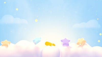 Cute Stars On The Clouds