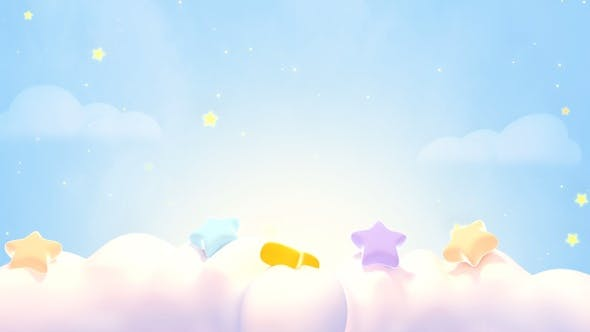 Thumbnail for Cute Stars On The Clouds