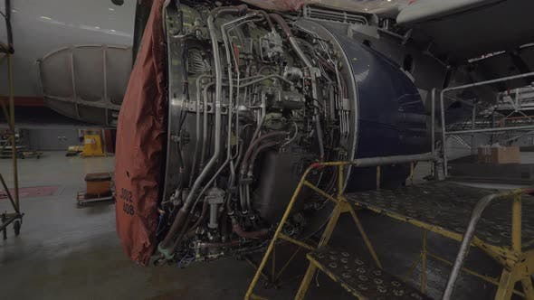 Thumbnail for Jet Engine Undergoing Repairs