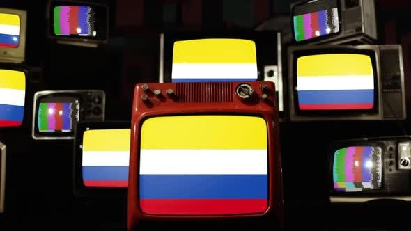 Flag of Napo Province, Ecuador, on Retro TVs.