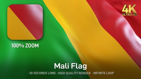 Thumbnail for Mali Flag - 4K