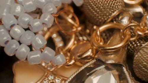 Luxury golden jewelry