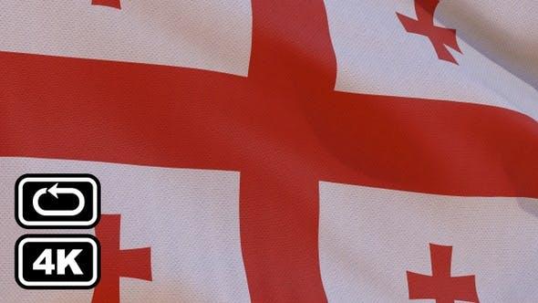 Georgia Flag 4K Seamless Loop