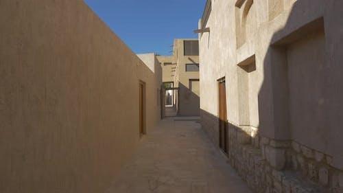 Stone houses on a street