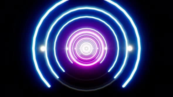 Neon Tunnel 4K Loop