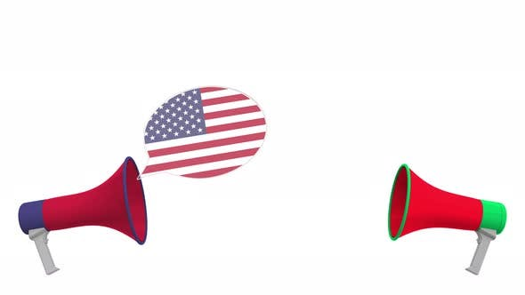 Thumbnail for Speech Bubbles with Flags of Lebanon and the USA