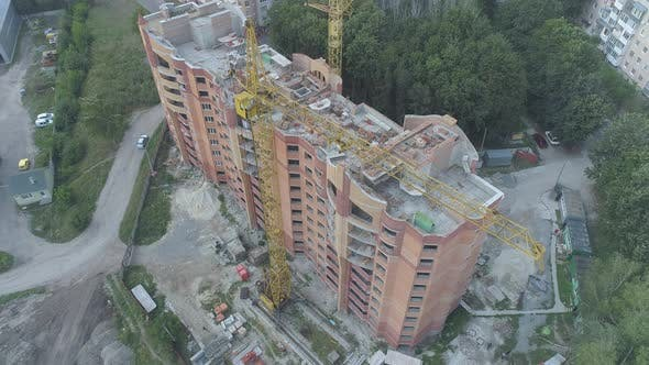 Thumbnail for Aerial of a building under construction