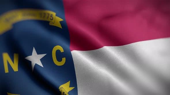 North Carolina State Flag Angle