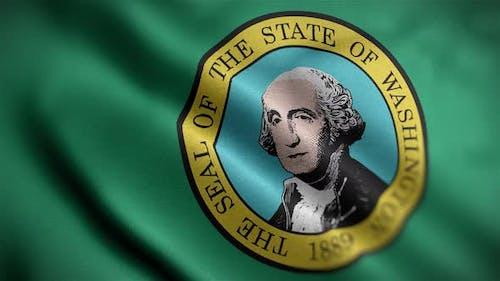Washington State Flag Angle