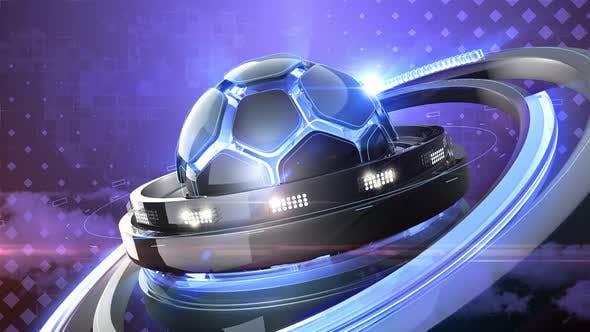 Thumbnail for Blue Soccer Background