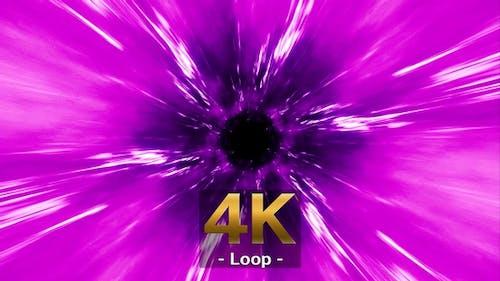 Glowing Light Streak in Pink Purple Fog 4K Loop
