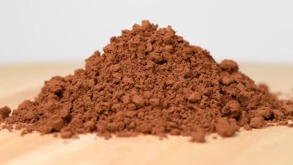 Thumbnail for Pile of cocoa powder rotating