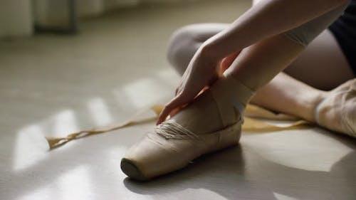 Close Up Of Ballerina's Feet