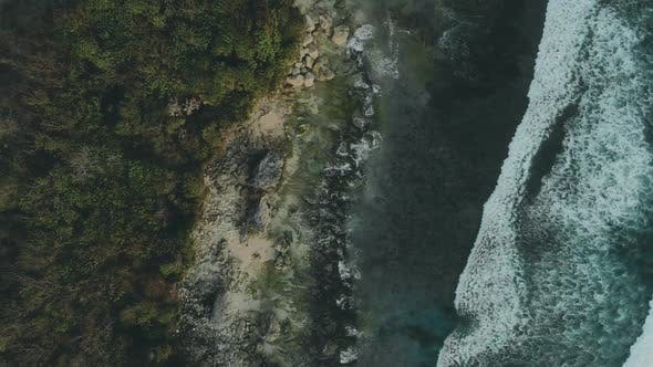 Thumbnail for Drone Shot, Bali Waves and Rocks