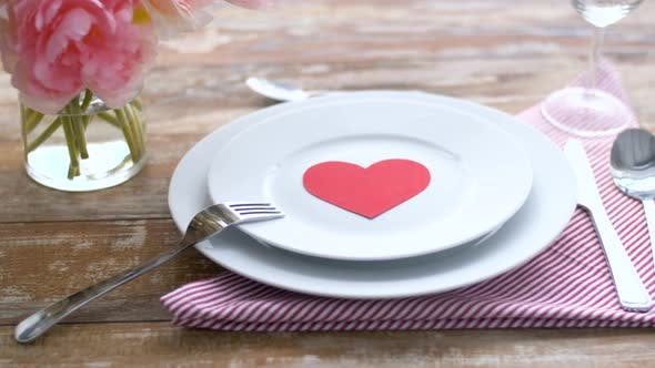 Thumbnail for Close Up of Table Setting for Valentines Day