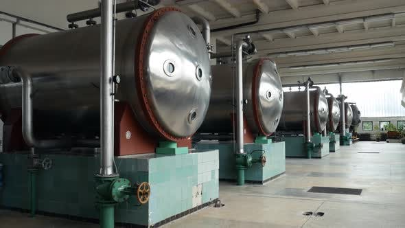 Industrial Water Ozonizer. Treatment Facilities for the Preparation of Drinking Water for the City