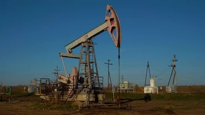 Oil Production, Oil Pumping at Dawn