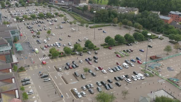 Thumbnail for Cars on Parking Lot next to Shopping Mall