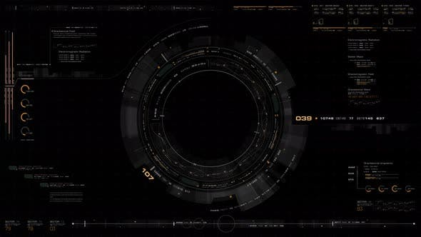 Futuristic Motion Graphic User Interface Head Up Display Screen