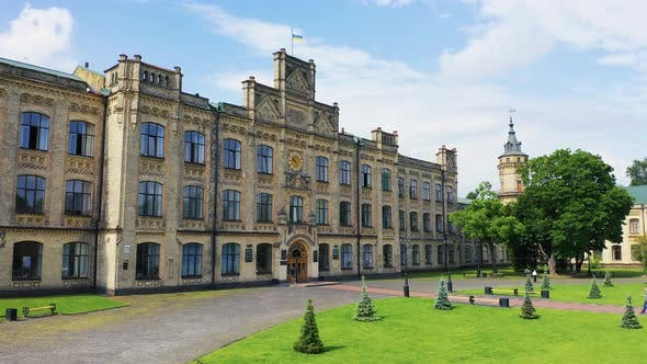 Thumbnail for The Outer Courtyard of the Main Building of the Igor Sikorsky Kiev Polytechnic Institute. University