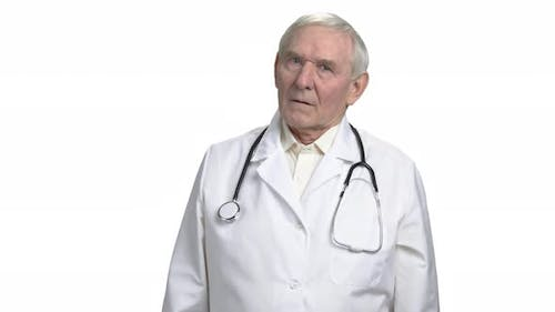 Concerned Old Doctor Worry About You.