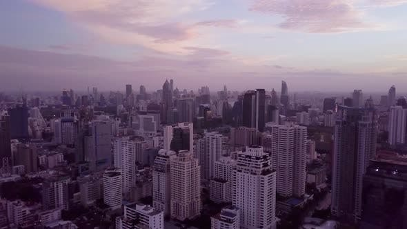 Sukhumvit Aerial View in Central Bangkok in Thailand