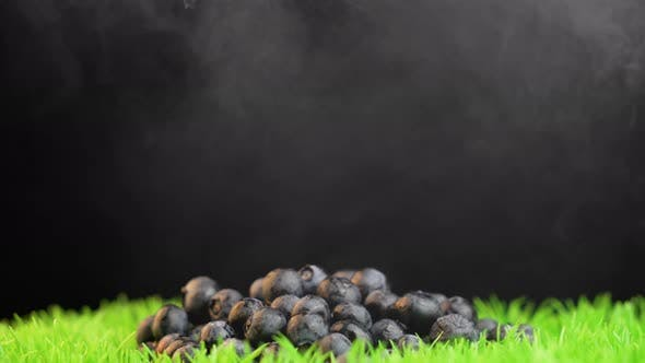 Thumbnail for Pile of Blueberries Rotating on Black Background
