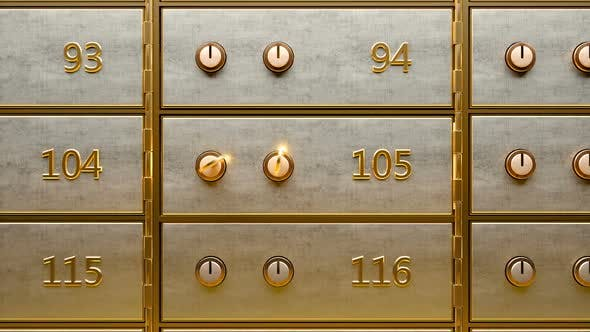 Thumbnail for Empty Safety Deposit Box Opened By Two Golden Keys