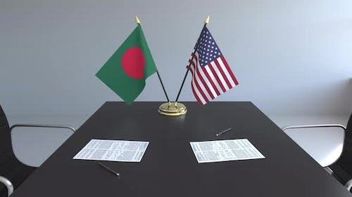 Flags of Bangladesh and the United States