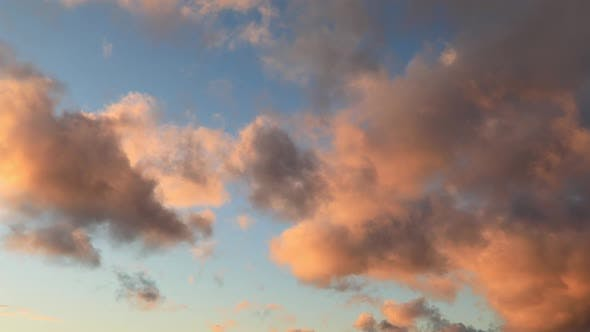 Thumbnail for Beautiful Sunset Sky. Natural Summer Background Concept